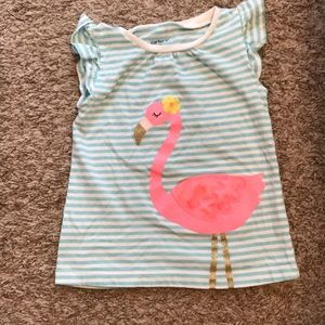 🎉5 for $25🎉 Carter's flamingo shirt